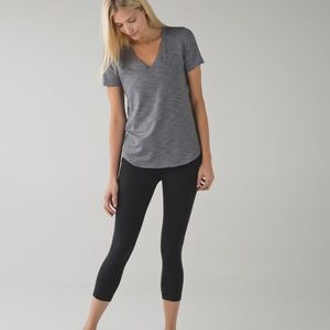 Lululemon | Wunder Under Crop Med Rise Black